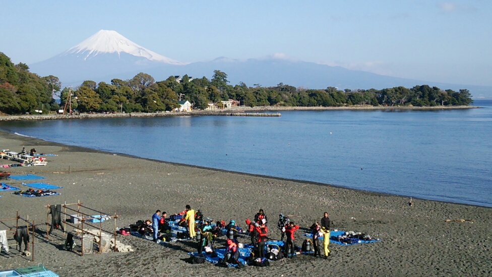 大瀬崎 ダイビング 伊豆 富士山