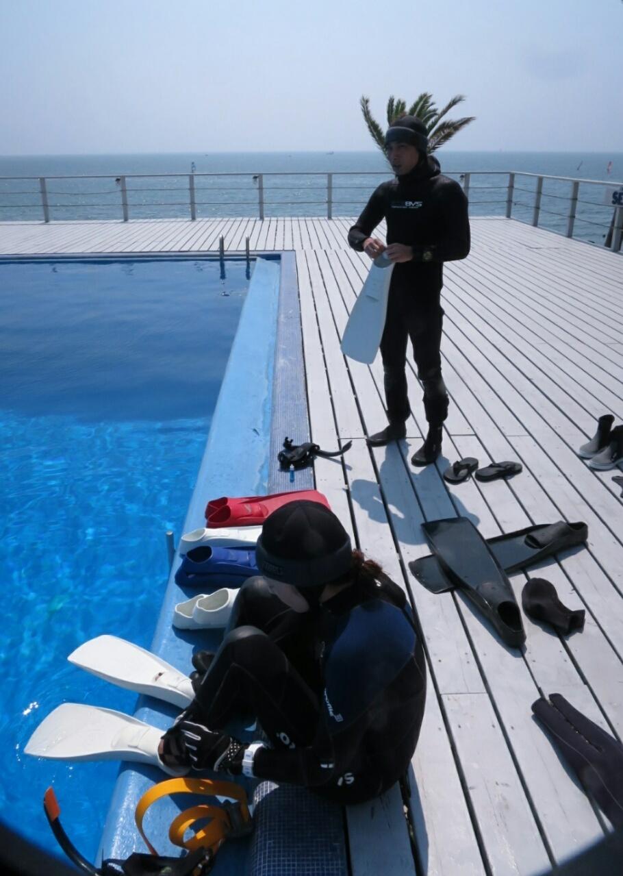スキンダイビング 三浦半島 三戸浜 神奈川 プール トレーニング