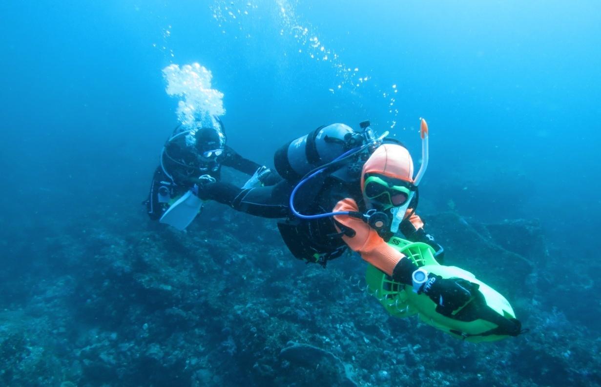 水中スクーター PADI 講習