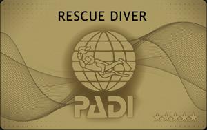PADI レスキュー Cカード