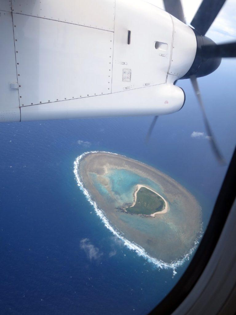 飛行機 上空 慶良間諸島