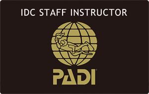 PADI IDCスタッフ インストラクター IDCS SI