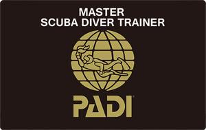 PADI MSDT マスタースクーバダイバートイレーナー