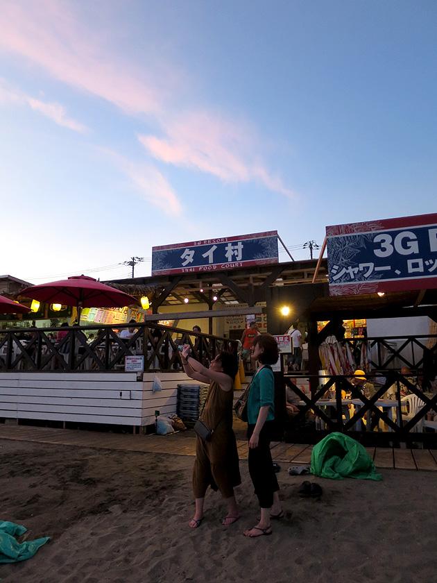 由比ヶ浜 鎌倉 タイ村 海の家