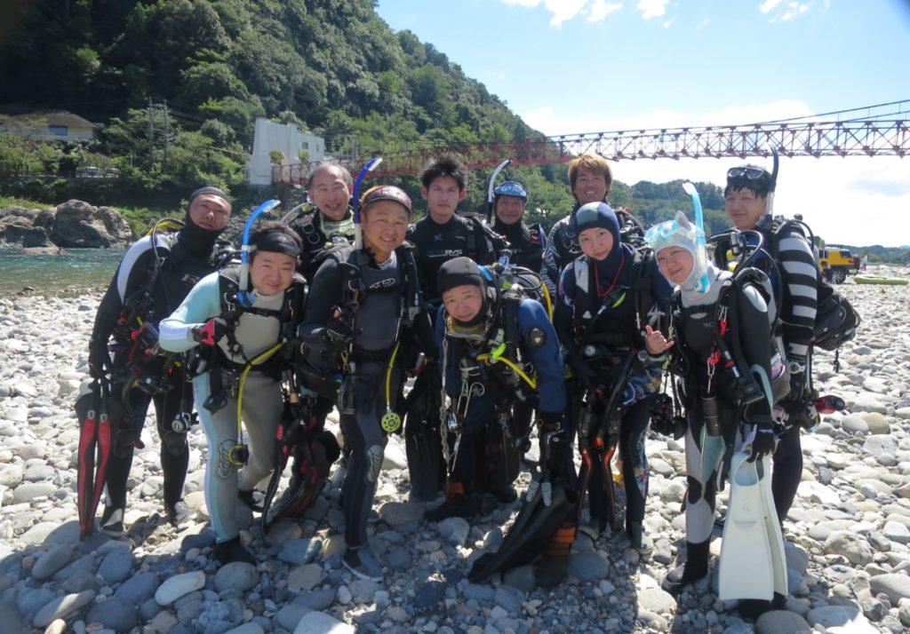 長良川 美濃橋 ダイビング