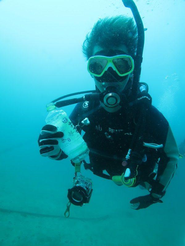 平沢 ダイビング 水中ゴミ拾い クリーンアップ