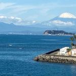 富士山 江の島 冬の景色