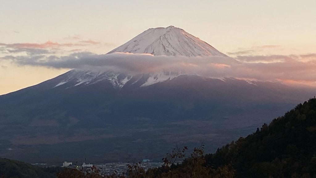 秋 富士山 山梨