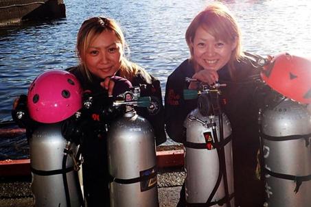 姉妹 インストラクター ダイビング テック テクニカル