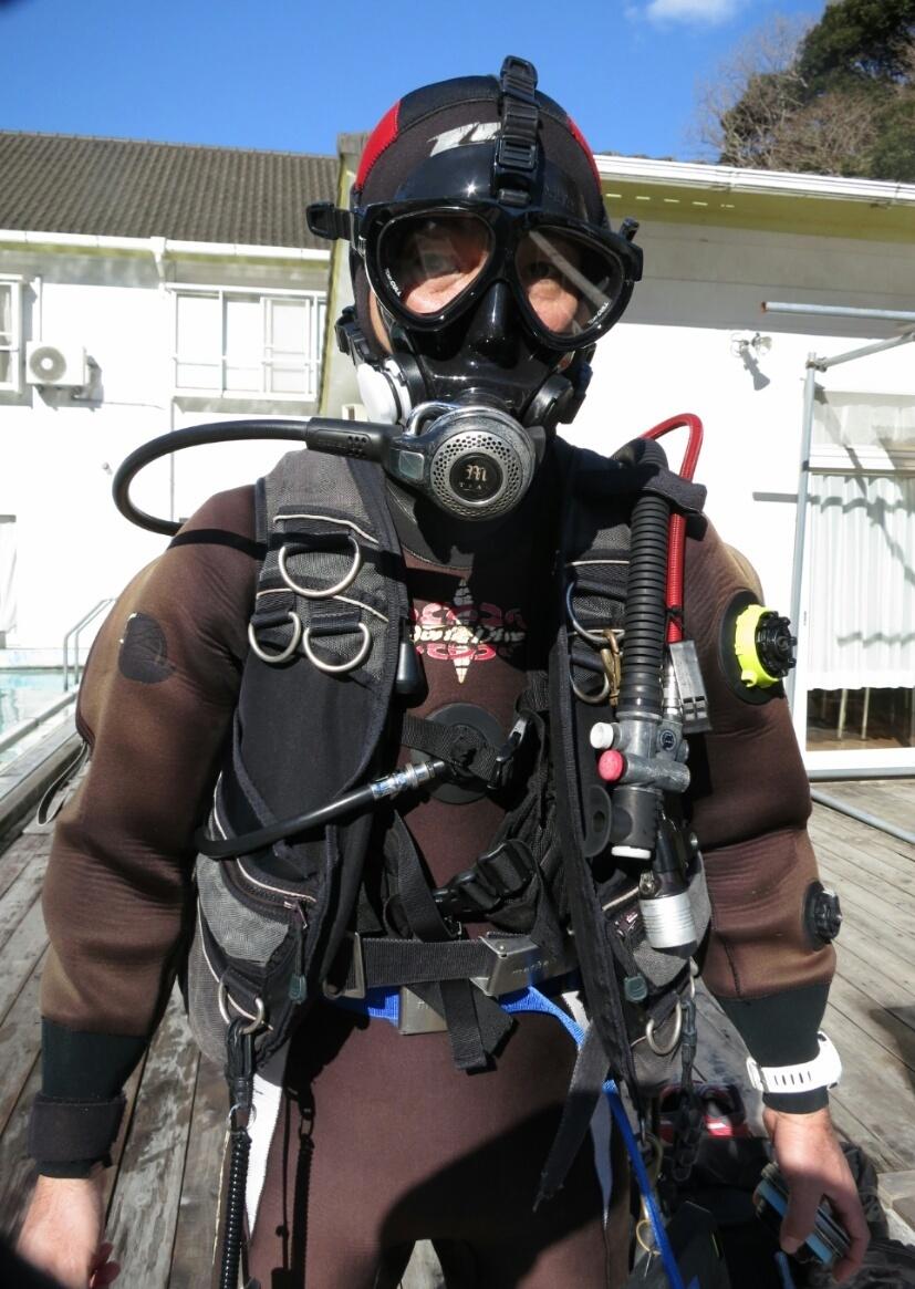 フルフェイスマスク ダイビング 講習 PADI SP