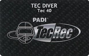 PADI TEC DIVER 40