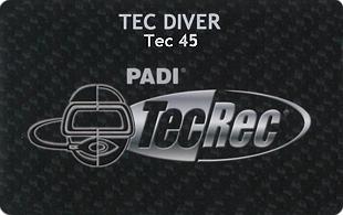 PADI TEC DIVER 45