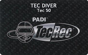 PADI TEC DIVER 50