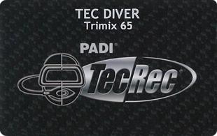 PADI TEC Trimix 65 DIVER