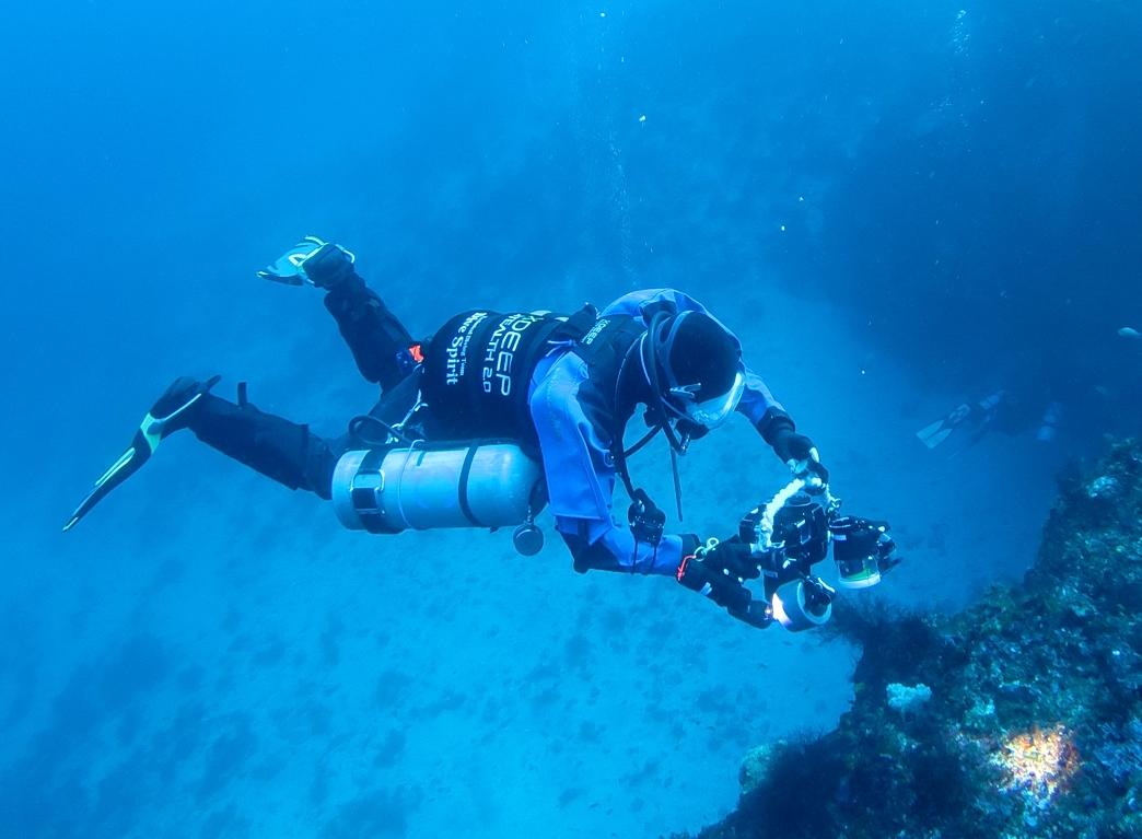 PADI サイドマウント ダイバー ダイビング