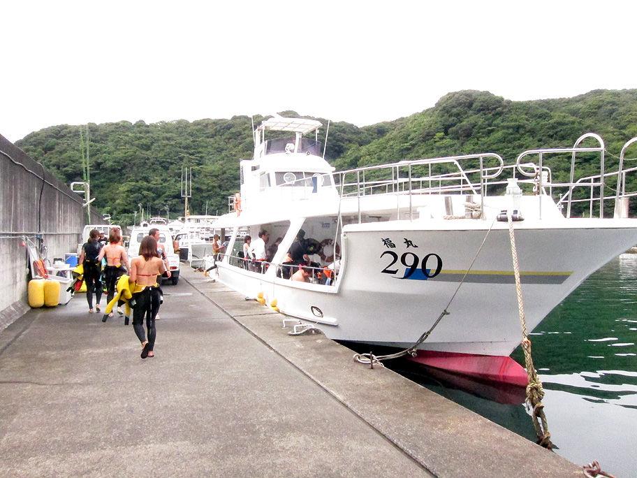 ボート ダイビング PADI 講習 SP