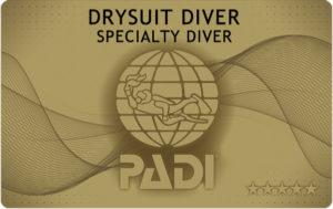 ドライスーツ ダイビング カード 申請 PADI