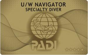 PADI ナビゲーション SP コンパス 水中地図 Cカード