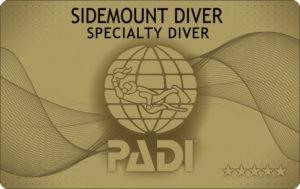 PADI サイドマウント ダイバー ダイビング Cカード