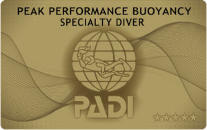 PPB 中性浮力 PADI カード 申請