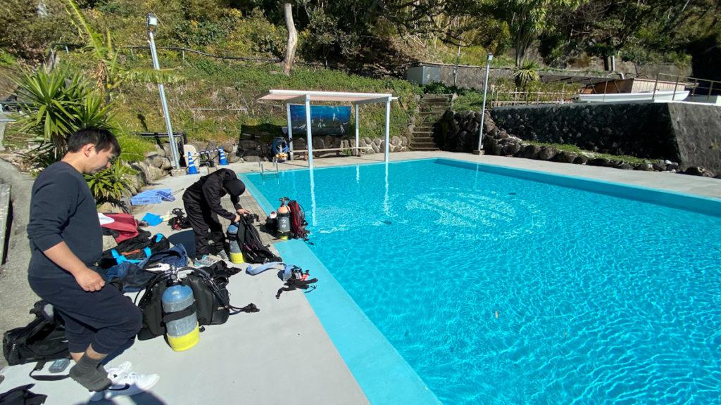 稲取 プール 中性浮力トレーニング