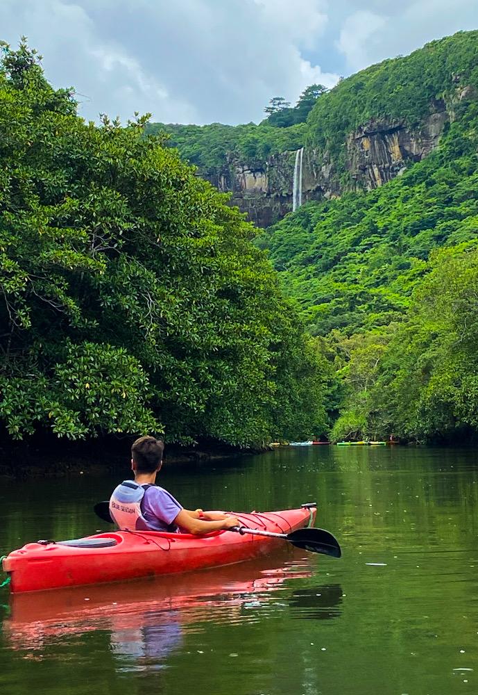 西表島 マングローブ林 カヤックツアー ダイビング 神奈川 ピナイサーラの滝