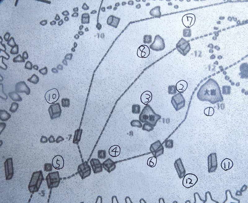 PADI ナビゲーション ダイビング 水中地図 ポイント