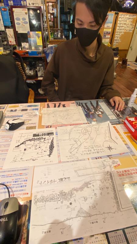 ダイブマスター 水中地図 PADI