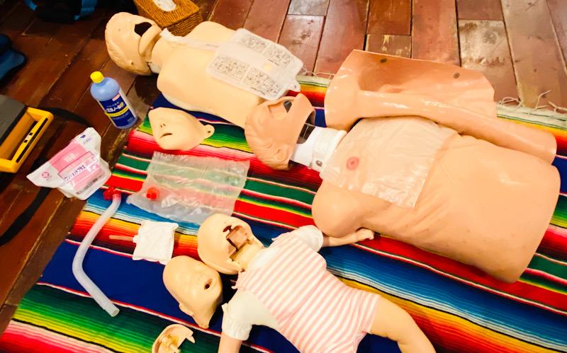 応急処置 EFR PADI CPR AED 救急 心肺蘇生 トレーニング マネキン 洗浄