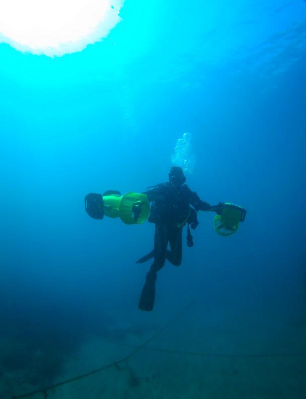 水中スクーター 講習 PADI