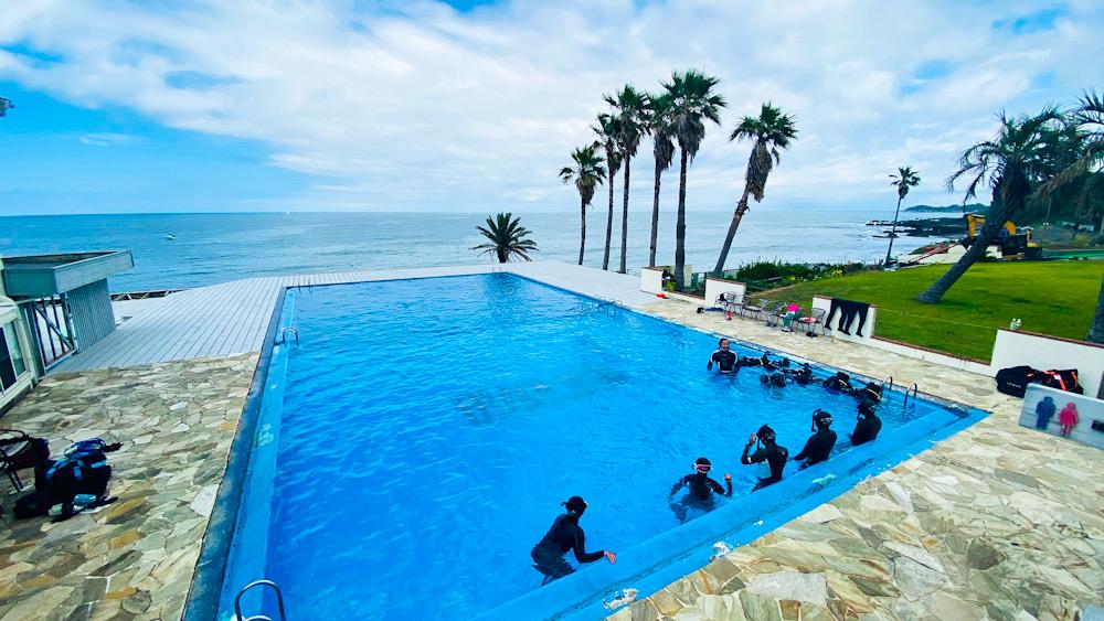 神奈川 スキンダイビング講習 プール