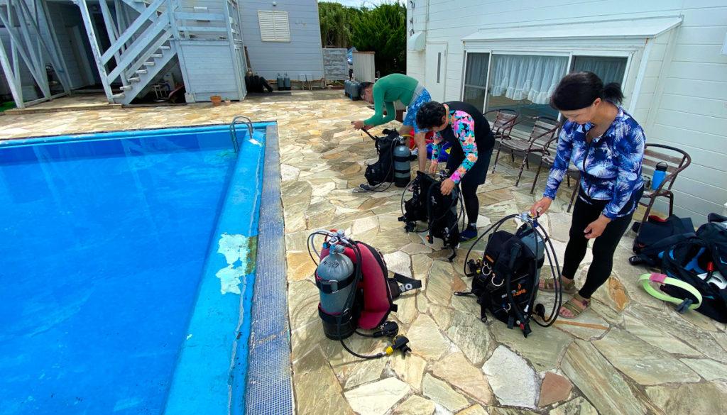 中性浮力トレーニング プール講習