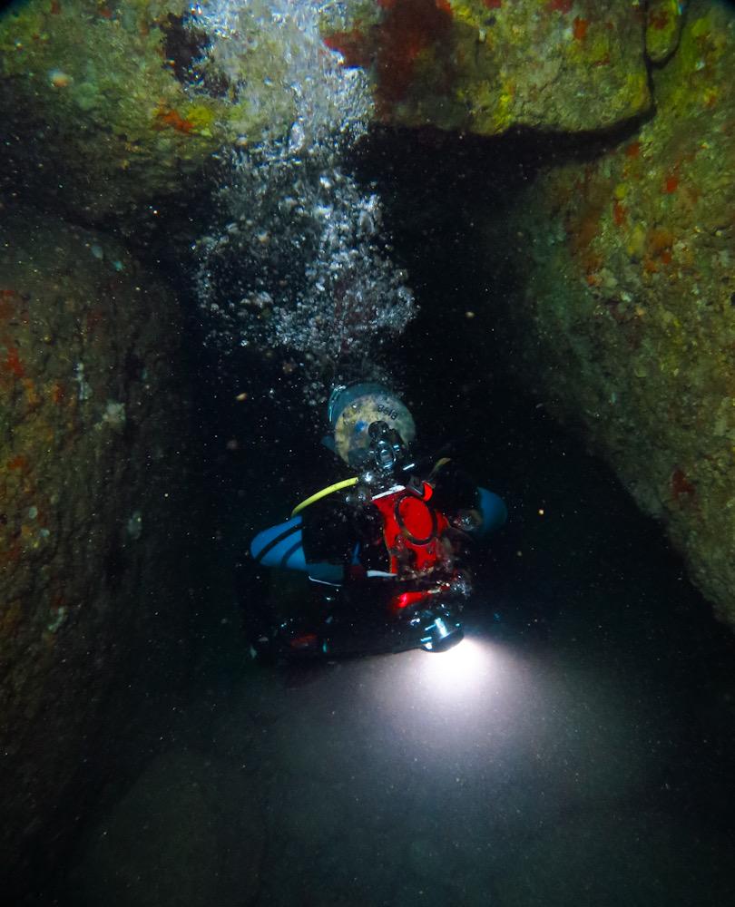 雲見 水中洞窟 ダイビング