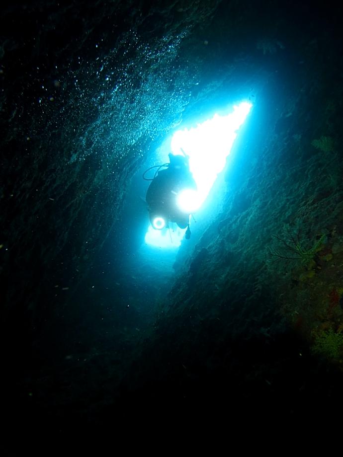 雲見 地形 洞窟 竪穴 ダイビング